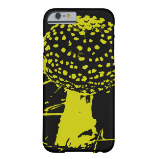 seta del muscaria de la amanita - chartreuse/negro funda para iPhone 6 barely there