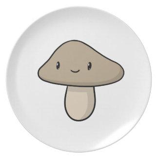Seta feliz (placa) plato para fiesta