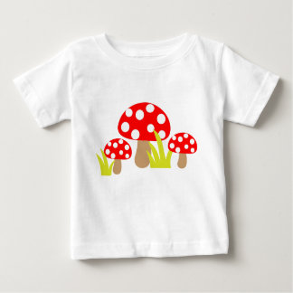 Seta linda del lunar - camiseta del bebé