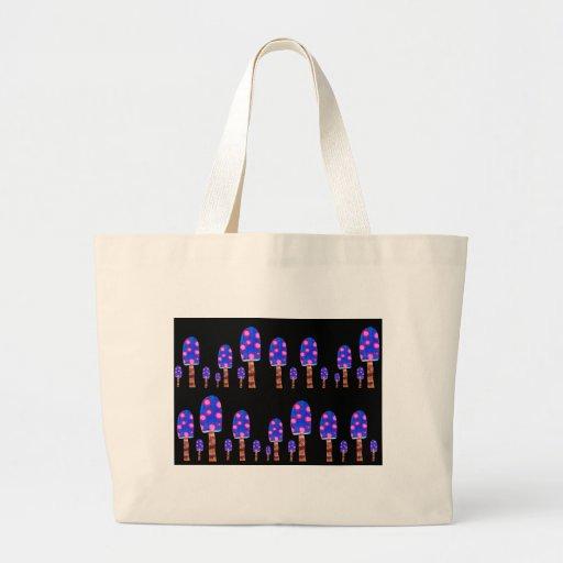 Seta manchada bolsas de mano
