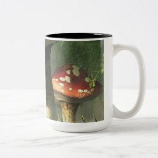 Seta mística taza de café de dos colores