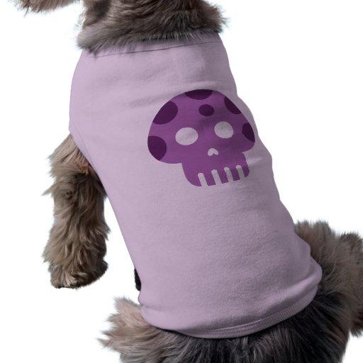 Seta muerta del veneno del cráneo ropa para mascota