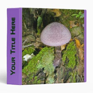 Seta púrpura en carpeta del musgo