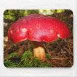 Seta roja de rubíes alfombrilla de raton