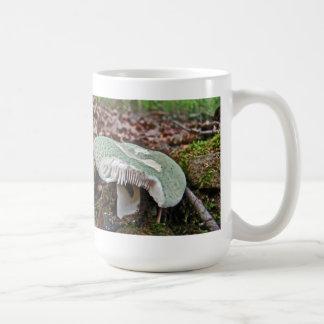 Seta verde - crusosa del Russula Tazas De Café