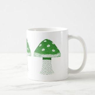 Seta verde taza de café