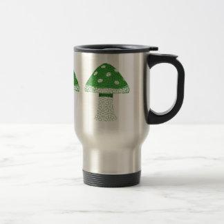 Seta verde taza de viaje