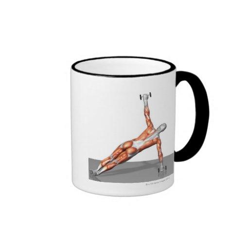 Setanta empuja hacia arriba 3 taza de café