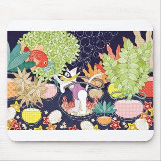 Setaria and goldfish mouse pad