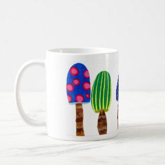 Setas, arco iris taza de café