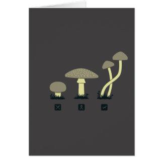 Setas (comida, veneno, altos) tarjeta de felicitación