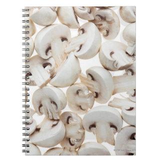 Setas de botón cortadas (Agaricus bísporo), Libro De Apuntes