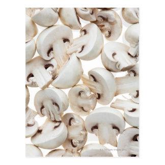 Setas de botón cortadas (Agaricus bísporo), Tarjetas Postales