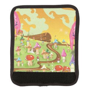 Setas del dibujo animado en un prado funda para asa de maleta