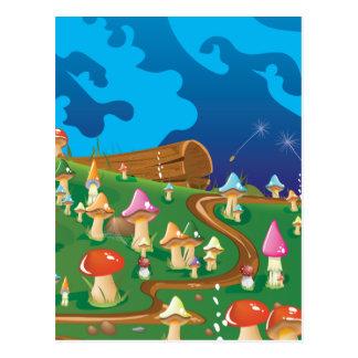 Setas del dibujo animado en un prado