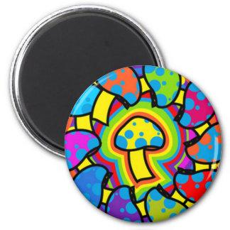 Setas mágicas coloridas imán redondo 5 cm