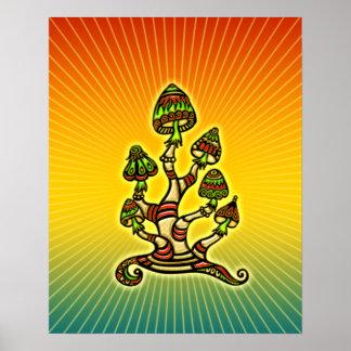 Setas mágicas - psicodélicas póster