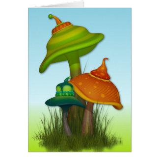 Setas mágicas tarjeta de felicitación