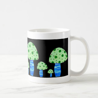 Setas, manchadas tazas de café