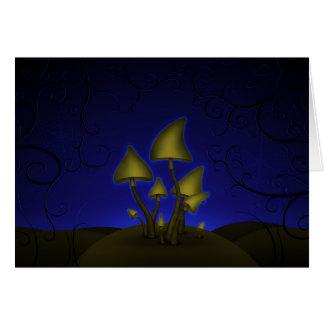Setas (noche de Halloween) Tarjeta De Felicitación