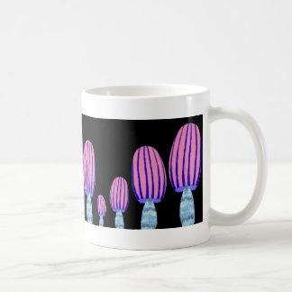 Setas rayadas tazas de café