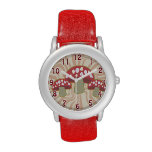Setas rojas maravillosas relojes de pulsera