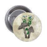 Setas y botón grises del lino pin