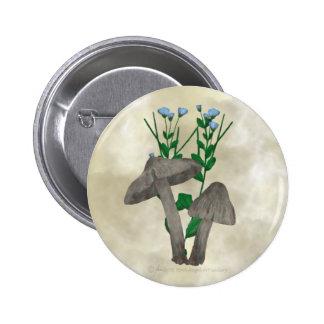Setas y botón grises del lino pin redondo de 2 pulgadas