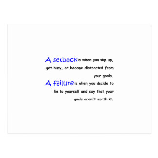 Setback Vs. Failure Postcard