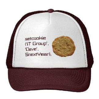 Setcookie Computer Crispy Cookie Group Team Cap Hat