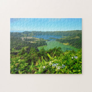 Sete Cidades Azore 11x14 Puzzle with Gift Box
