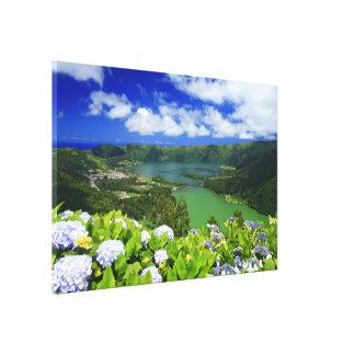 Sete Cidades, Azores Stretched Canvas Print