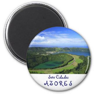 Sete Cidades, Azores 2 Inch Round Magnet