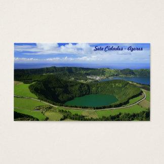 Sete Cidades, Azores - Pocket calendar Business Card