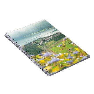 Sete Cidades crater Spiral Note Book