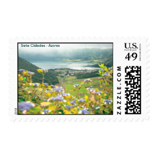 Sete Cidades crater Postage Stamp