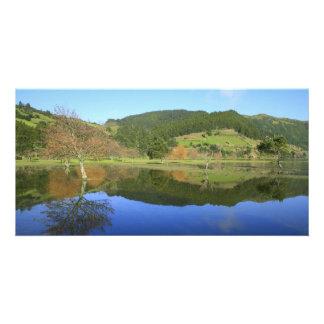 Sete Cidades lakes in Azores Card