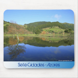 Sete Cidades lakes in Azores Mouse Pad