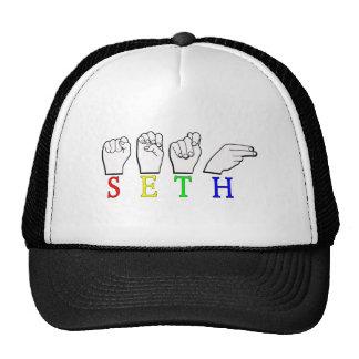 SETH FINGERSPELLED ASL NAME SIGN TRUCKER HAT