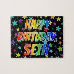 "[ Thumbnail: ""Seth"" First Name, Fun ""Happy Birthday"" Jigsaw Puzzle ]"