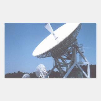 SETI Attenna Pegatina Rectangular