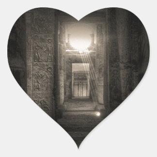 Seti I Temple Abydos 2 Heart Sticker