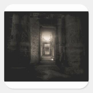Seti I Temple Abydos 2 Square Sticker