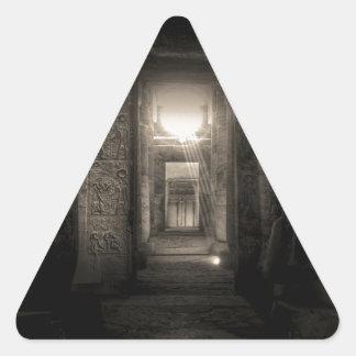 Seti I Temple Abydos 2 Triangle Sticker