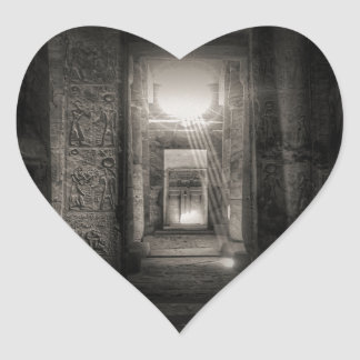 Seti I Temple Abydos Heart Sticker