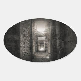 Seti I Temple Abydos Oval Sticker