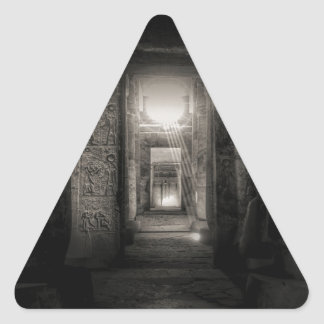 Seti I Temple Abydos Triangle Sticker