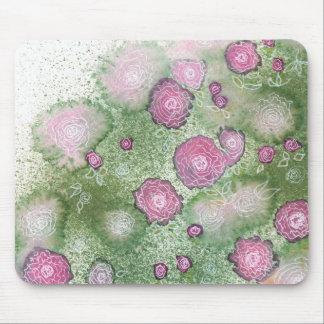 Seto pintado a mano del antigüedad-rosa alfombrilla de ratón