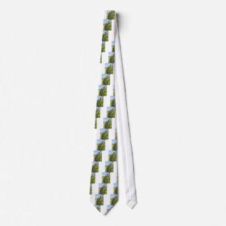 Seto verde de los manzanos de la pera y con el corbatas