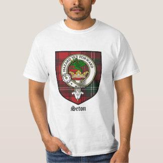 Seton Clan Crest Badge Tartan Tee Shirt